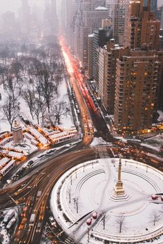 Columbus Circle Winter Wonderland... this is what it looked like when we went to NYC! Beautiful!!
