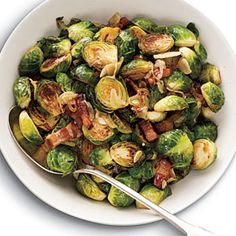 5 ingredient brussel sprouts with bacon.  A great way to introduce kids to this vegetable.  From Cooking Light.