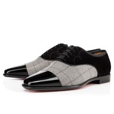 Christian Louboutin - Olympio Patent Tissu Dorsilk, gentleman's dress shoe