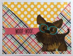 Is woof woof for happy birthday or get well? Such a versatile card with many translations. Love Thoughts, Stork, Get Well, Homemade Cards, Yorkie, Happy Birthday, Happy B Day, Yorkies, Yorkshire Terrier