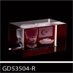 Yatay Kristal 3D Ve 2D Küp - KRİSTAL ÜRÜNLER - Durbuldum.com - hediye