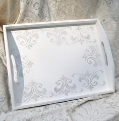 Painted tray, Wooden Tray, Serving Tray, Hand Painted Tray, Decorative Tray,Cottage Chic, Shabby Chic