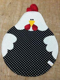 17 ideas patchwork patterns kitchen quilted potholders for 2020 Applique Patterns, Applique Quilts, Applique Designs, Quilt Patterns, Sewing Patterns, Patchwork Patterns, Fabric Crafts, Sewing Crafts, Chicken Quilt