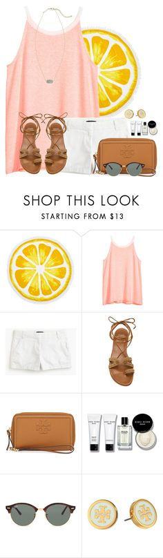 """Loving Wyoming and it is loving me right back"" by auburnlady ❤ liked on Polyvore featuring Nordstrom Rack, H&M, J.Crew, Stuart Weitzman, Tory Burch, Bobbi Brown Cosmetics, Ray-Ban and Kendra Scott"