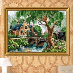 Needlework 11CT DIY DMC Cross Stitch Sets for Embroidery