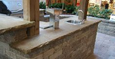 concrete countertop outdoor kitchen - Google Search