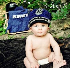 LOOOVE this!!!!   Baby Boy Police Hat | Amy K