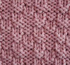 Stockinette Mosaic Stitch - Stitch Sample