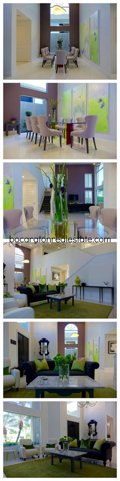 Bright Living Room Design | Modern Home Decor | Luxury Home Designs   Broken Sound Country Club in Boca Raton, FL. CLICK THE PIN FOR MORE INFO or call Champagne & Parisi Real Estate at 561-544-7004