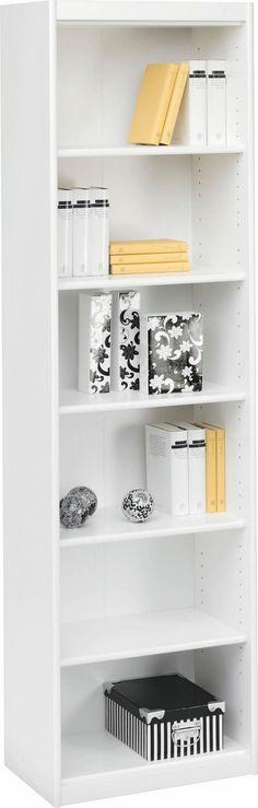 Dieses ansprechende Regal(B/H/T ca. 55/194/36 cm)ist das Schmuckstück in Ihrem Wohnzimmer. Die elegante Nussbaum-Nachbildung setzt Ihre Dekoration perfekt in Szene. Auf 6 Einlegeböden finden Bücher, Vasen und Accessoires viel Platz. Dank seines schlanken Designs können Sie mehrere Exemplare des Regals nebeneinander kombinieren. Dieses Regal wird Ihr Wohnzimmer verschönern!