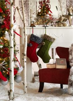 Stocking by the fireplace