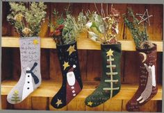 Wool Applique Stockings