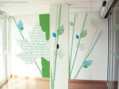 #décoration #design #mur Un joli jeu graphique entre mots, formes et couleurs !!!