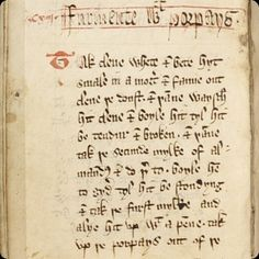 The Forme of Cury, Middle English cookbook from the kitchens of Richard II, has been digitized at the University of Manchester website.