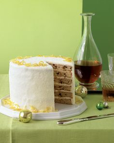 Layered Fruitcake with Creme Fraiche Frosting - Martha Stewart Recipes