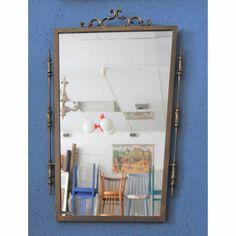 eleganter Vintage Spiegel mit Metallrahmen 60er Jahre