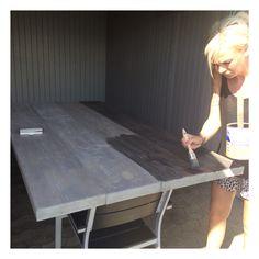 Diy, plankebord, bord, table