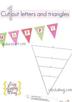 cut out letters and triangles