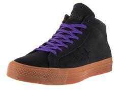 Nike Kids Air Force 1 Premium (GS) Black/Hot Lava Basketball Shoe