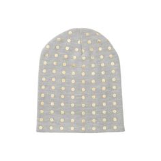 love the grey + gold combo in this metallic dot beanie! // gifts for her