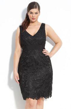 b163069b61 Adrianna Papell Sleeveless Lace Dress (Plus) Evening Dresses Plus Size