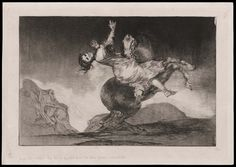 Kidnapping horse, nº 10 from the Disparates (1815-1823)