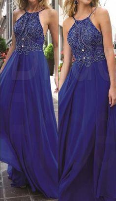 New Design Royal Blue Beading Prom Dresses, The Charming Evening Dresses, Prom Dresses, Real Made Prom Dresses On Sale,: