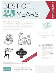 October's Best Of 25 yrs Stamp Set!  Dawn Bourgette - Dawn's Creative Chalet http://www.dawnscreativechalet.com