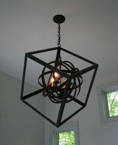 Cube chandelier. Crazy contemporary craftsmanship. Cool.