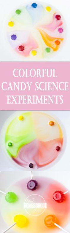 Colorful Candy Science - Lots of fun ideas for using leftover halloween candy for science experiments, science projects, and kids activities using candy.