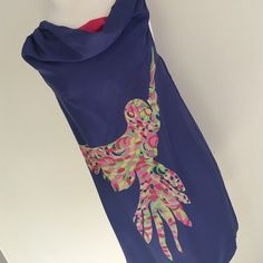 """100% Lilly Pulitzer Dress Beautiful dress perfect for that wonderful vacation or night out - colorful and whimsical parrot - bust is 36"""" and length is 34"""" Lilly Pulitzer Dresses Midi"""