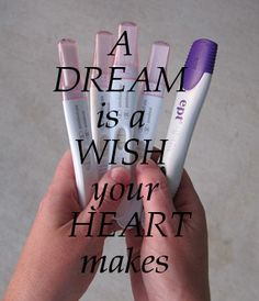 A dream is a wish your heart makes. #infertility support #fertility wishes #ivf dream