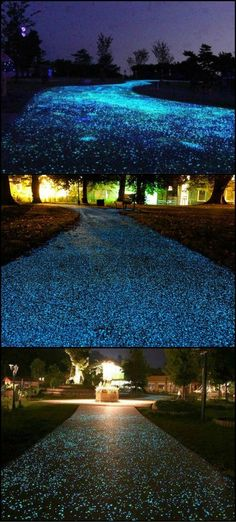 "How Would You Like A Driveway That Twinkled Like Fairy Lights Every Night?  http://theownerbuildernetwork.co/h38u  It is possible by using ""glowstones"" in your concrete mix, but it is not cheap. The upside of the extra expense I guess is that you wouldn"