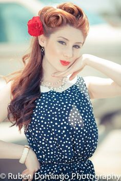 40's pin-up inspired vintage planes shoot