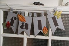 """""""Fall"""" paper banner by The Salvaged Home, on Etsy Back To School Art, Art School, Fall Halloween, Halloween Crafts, Etsy Shop Names, Paper Banners, Holiday Decor, Unique Jewelry, Handmade Gifts"""