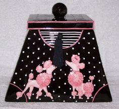 pink poodle cookie jar