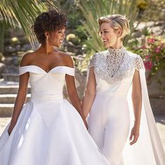 Love this so much! Congratulations @whododatlikedat and @lomorelli you absolutely stunning brides  Wishing you a long and happy life together - what a gorgeous happy photo to remember the day by.  via GLAMOUR UK MAGAZINE OFFICIAL INSTAGRAM - Celebrity  Fashion  Haute Couture  Advertising  Culture  Beauty  Editorial Photography  Magazine Covers  Supermodels  Runway Models