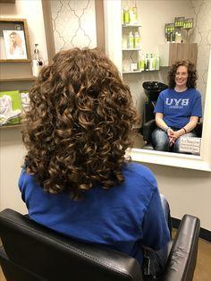 #AvedaMadison Medium Permed Hairstyles, Short Permed Hair, Curly Hair Cuts, Curled Hairstyles, Curly Perm, Perm Hair, Spiral Perm Short Hair, Spiral Hair Curls, Curls For Long Hair
