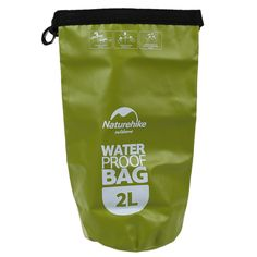New Sale Naturehike 2L Small Ultralight Waterproof Outdoor Travel Drying Bag Swimming, Green
