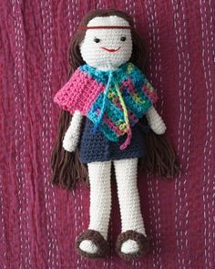 Lily's ready for school in her fashionable new outfit with matching hoodie, sneakers, and backpack...free pattern!.