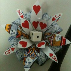 LOVE this Hearts Playing Card Flower for your hair! Vegas anyone?!