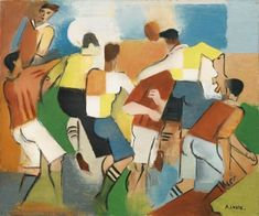 View Joueurs De Rugby By André Lhote; Oil on canvas; by cm ; Access more artwork lots and estimated & realized auction prices on MutualArt. Art Football, Soccer Art, Football Paintings, Movement Photography, Sports Painting, Cubism Art, Georges Braque, Post Impressionism, Egyptian Art