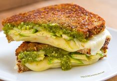 Three Cheese Pesto Avocado Grilled Cheese Sandwich is a great way to celebrate cheese with a full flavored and perfectly toasted sammie Avocado Recipes, Salad Recipes, Healthy Recipes, Cottage Cheese Breakfast, Grilled Cheese Avocado, Toast Sandwich, Veggie Dishes, Pesto, Entrees