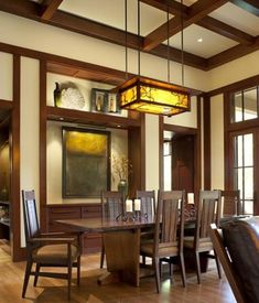 26 Charming Craftsman Dining Room Lighting Design  Perfect Dining Amusing Craftsman Dining Room Lighting Inspiration