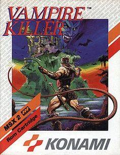 Vampire Killer, known as Akumajō Dracula in Japan, released in 1986 for the MSX2 computer platform.