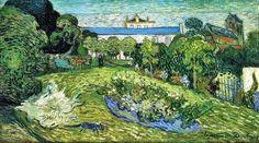 Vincent Van Gogh - Daubigny's Garden, 1890. Oil on canvas, 56 cm × 101 cm (22 in × 39.8 in). Kunstmuseum Basel, Switzerland