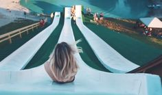 At BSR Cable Park In Waco, Texas, lies the biggest waterslide I have ever seen and it's appropriately called 'The Royal Flush'. Cool Slides, Water Slides, Bsr Cable Park, The Places Youll Go, Places To See, Travel Around The World, Around The Worlds, Waco Texas, Dallas Texas