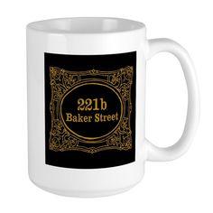 Baker Street 15 oz Ceramic Large Mug Baker Street Mugs by Susanna - CafePress Mysterious Things, 221b Baker Street, Mug Designs, Cold Drinks, Vivid Colors, Coffee Mugs, Ceramics, How To Make, Ceramica