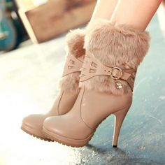 Fashionable Platform High Heels Ankle Boosts