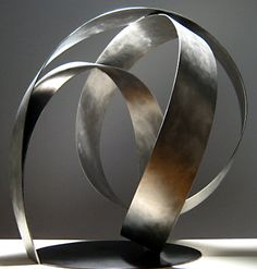 | P | Damon Hyldreth KNOT 19S Stainless Steel, Steel  34 x 33 x 30 in 2007 edition 7 http://www.damonart.com/index-sculpture-knot2.html